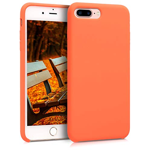 kwmobile Apple iPhone 7 Plus / 8 Plus Hülle - Handyhülle für Apple iPhone 7 Plus / 8 Plus - Handy Case in Orange