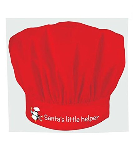 Chrismtas Santa's Little Helper Chef Hat Cook Kitchen Party Fancy Dress Costume Cooking Child Kid Xmas Cooks Helper -