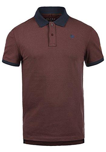 Blend Ralf Herren Poloshirt Polohemd T-Shirt Shirt Mit Polokragen Aus 100% Baumwolle, Größe:L, Farbe:Deep Red (73822) -