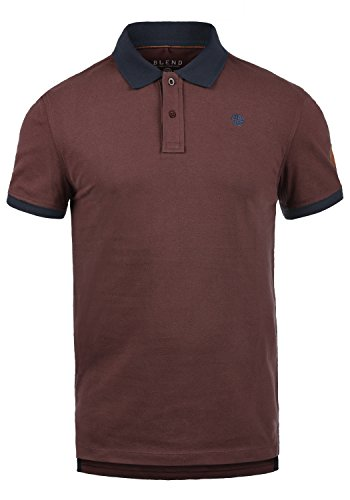 Baumwolle Tipped Pullover Mit V-ausschnitt (Blend Ralf Herren Poloshirt Polohemd T-Shirt Shirt Mit Polokragen Aus 100% Baumwolle, Größe:M, Farbe:Deep Red (73822))