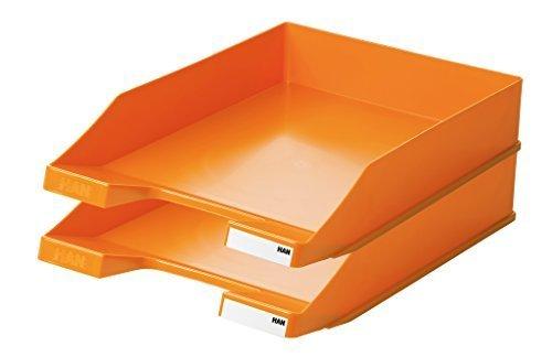 HAN 1027-X-00, Briefablage KLASSIK, Modern, Schick und Hochglänzend, 10er Packung (orange)