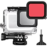 TEKCAM Action Camera Waterproof Case Protective Housing With Red Filter For Gopro Hero 6 / 5 Black Underwater Diving Action Sports Camera