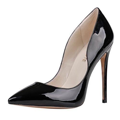 MERUMOTE , Chaussures à talon fin femme Noir - Black-Patent