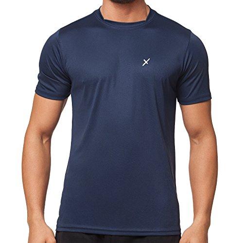 CFLEX Men Sportswear Collection - Herren Funktion Sport Kleidung - Fitness Quickdry Shirt & Hemd Fitness Sport top Navy Größe M