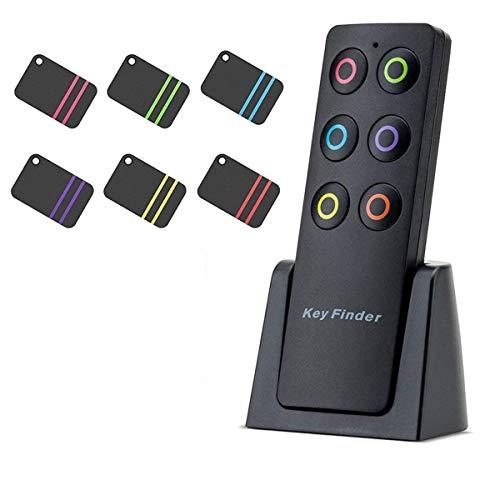 Key Finder Kyerivs-Schlüsselfinder,Wireless Anti-verlorene Schlüsselanhänger Locator mit 6 Empfänger,Unterstützung Fernbedienung,Pet Handy Gepäck, Klein Dinge
