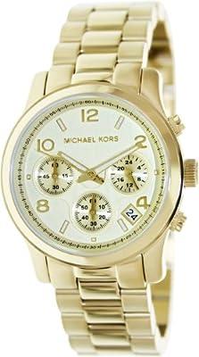 MICHAEL KORS MK5055 de cuarzo para mujer con correa de acero inoxidable, color dorado