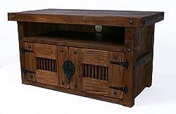 TV Tisch, HiFi Schrank, Rustikal Unikat, Massivholz, Vintage,Schrank Tisch Höhe: 50 cm Breite: 90 cm Tiefe: 45 cm