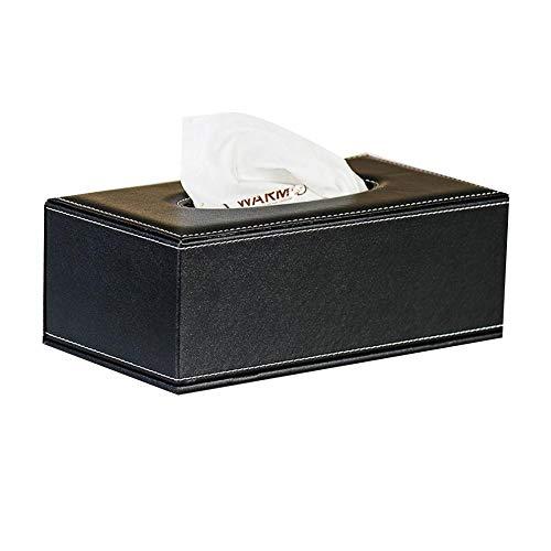 Funda Toalla dispensador, funda Caja piel respetuoso con el medio ambiente resistente al agua rectangular cosmético de pañuelos caja de pañuelos para casa oficina auto