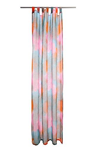 Gardine Concord Farbe: Rosa / Türkis transparent
