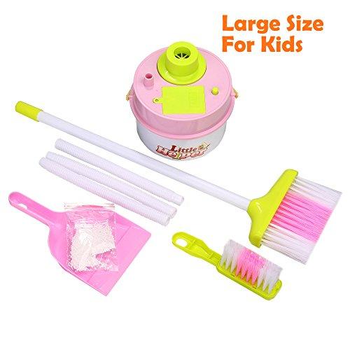 einigung Spielzeug Playset -4 Pieces Pretend Play Clean Zubehör (Kleinkind Besen)