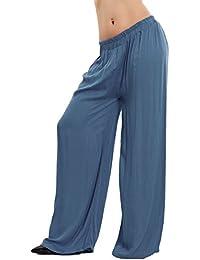 18492edfb25641 Toocool Pantaloni donna palazzo lunghi leggeri estivi ampi eleganti basic  sexy VB-8122