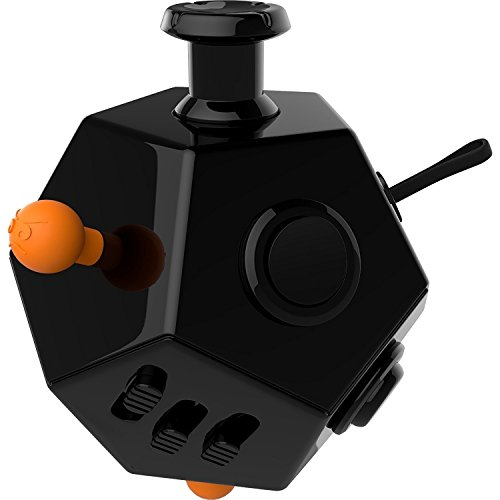Stress Würfel Fidget Cube für Fidgeters Spielzeug Angst Aufmerksamkeit Stress Relief Stocking Stuffer löst Stress für Kinder und Erwachsene (Schwarz)