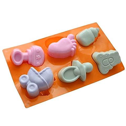 C-pioneer Coque en silicone Baby Shower Fondant Moule Cookie Décoration de cupcake Moule à gâteau Sugarcraft Outil