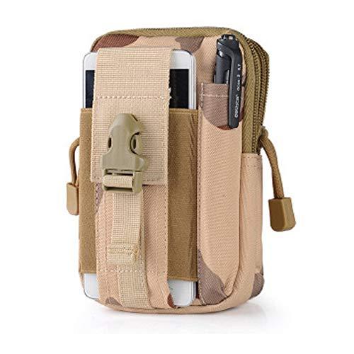 Tactical Taille Gürteltasche | Universal Handy Tasche Gadget Pocket Geldbörse (Outdoor EDC Militär iPhone X 8766S Plus Samsung Galaxy S8S7S6S5, Camouflage-D -