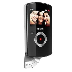 Philips CAM110BL Caméscope de poche à mémoire Flash Full HD 10 Mpix HDMI USB Noir