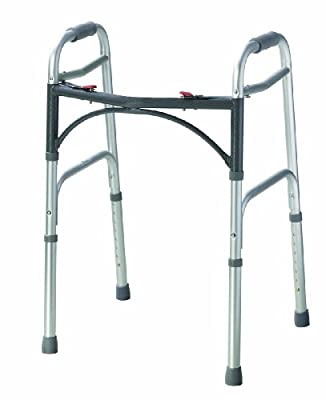 Drive DeVilbiss Healthcare Folding Lightweight Aluminium Walking Frame without Wheels