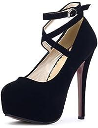 OCHENTA Moda Nuevo Zapatos con tacon alto para mujer plataforma