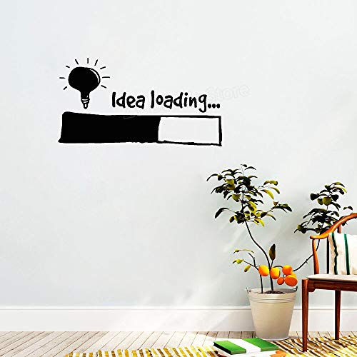 zlhcich Idee Laden Wandaufkleber Glühbirne Lampe Fenster DIY Aufkleber Büro Wanddekor Kreative Kinder Schlafzimmer Aufkleber Ornament 77 * 42 cm