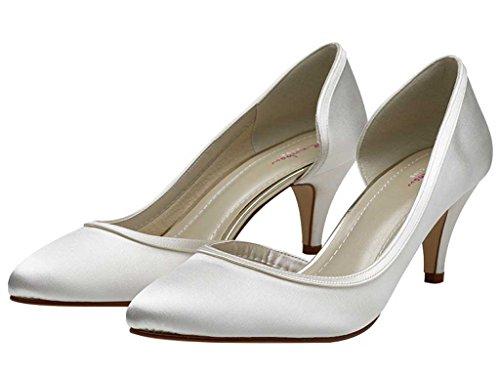 Rainbow Club Hochzeit Schuhe Abbie Elfenbeinfarben Kolorieren Satin, Weiß - weiß - Größe: 41