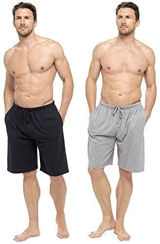 CComfort Herren Lounge-Wear Hose mit Bündchen oder Lounge-Shorts - weich, gemütlich und angenehm Nachtwäsche Hose 100{4ecaaaa46c51ca8c702690db8e38e8621b7275637ad50a5811a901668df01f97} Baumwolle Herren Schlafanzughose Jogger Lounge-Pants (XL, schwarz und grau)