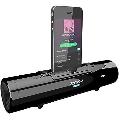 Azatom iFlute Station d'accueil pour iPhone avec enceinte stéréo et télécommande