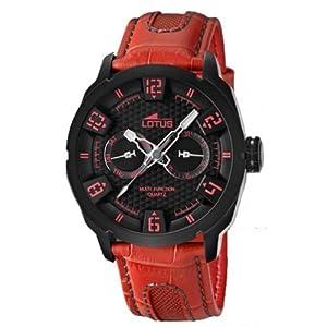 Reloj Lotus 15788/3 de cuarzo para hombre con correa de piel, color rojo de Lotus
