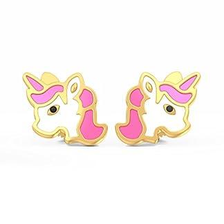 BlueStone 22k (916) Yellow Gold Magic Unicorn Stud Earrings