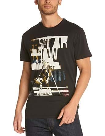 G Star Raw Corbijn R Shortsleeve Printed Men's T-Shirt Carbon XX-Large