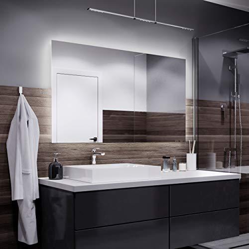 Espejos con Luz - 140x100cm - Diferentes tamaños - Espejo de Baño con Iluminación LED - Modelo Dubai...