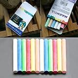 SLB Works Brand New 12Pcs/Box New White&Colored Dustless Chalk NON-Toxic Chalkboard Eraser Pro