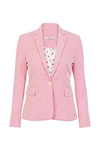 Chino-zwei-knopf-anzug-jacke (Steps Damen Blazer Streifen Modisch Bequem Summer Flamescarlet, 038)