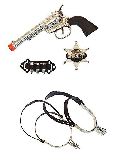 Kinder Cowboy Set 5 tlg. - Revolver, Zierpatronen, -