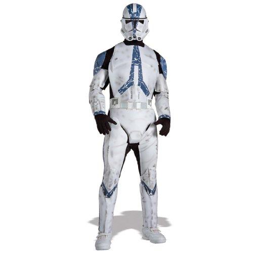 Star Wars Clone Trooper Deluxe Kostüm für Herren, Größe: Standard (M/L) (Clone Trooper Kostüme Erwachsene)