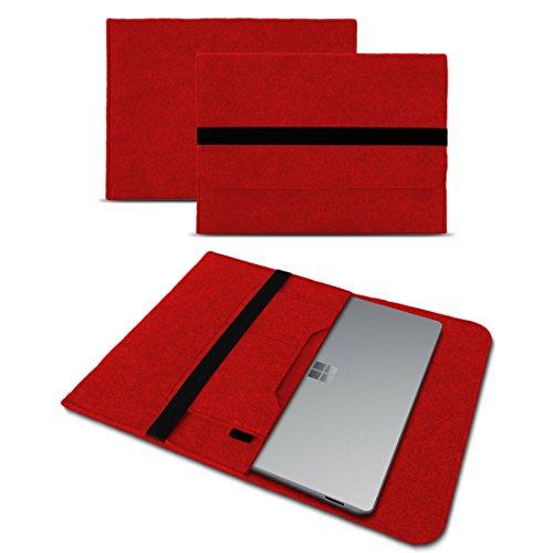 Microsoft Surface Laptop 13,5 Sleeve Cover Hülle Tasche Notebook Filz Case Schutzhülle, Farben:Rot