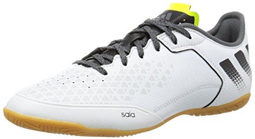 adidas Herren Ace 16.3 Court Fußballschuhe, Weiß (Crystal White/Core Black/Solar Yellow), 42 EU