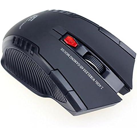 Mouse, lanowo Mini portatile 2.4GHz Wireless Optical Gaming Mouse con (Button Optical Mini Mouse Pc)