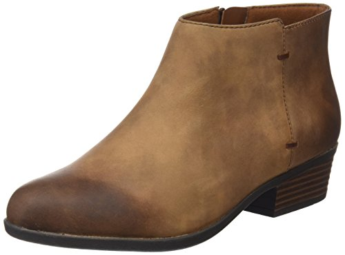 Clarks Damen Addiy Zora Combat Boots, Braun (Tan Leather), 40 EU Womens Tan Leder