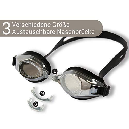 Diapolo Lares Schwimmbrille mit verspiegelten Gläsern für Damen und Herren, perfekt für den Innen- und Außenbereich für professionelle Zwecke