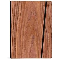 Cuaderno hecha a mano en Italia, 16,0x21,7 cm, Pastas de Cerezo con tapa de madera de cerezo