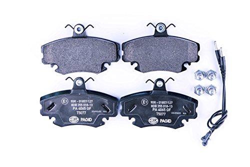 HELLA PAGID 8DB 355 018-131 Kit pastiglie freno, Freno a disco, Assale anteriore