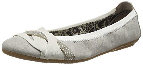 Rieker 41461 Women Closed Toe, Ballerines femme - Gris - Grau (grey/ice/fango-silver / 40), 42