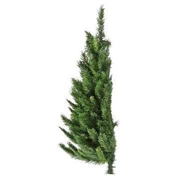 wall mounted half christmas tree 4ft12m restricted space indoor tree - Wall Mounted Christmas Tree
