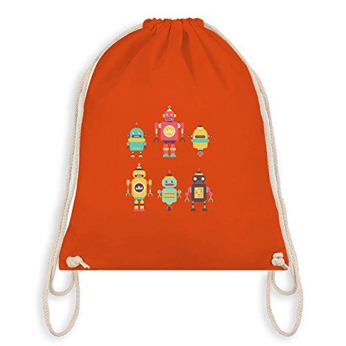Shirtracer Nerds & Geeks - Bunte Roboter - Unisize - Orange - WM110 - Turnbeutel & Gym Bag