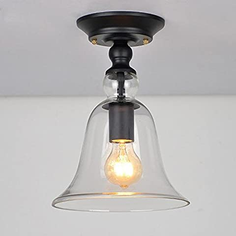 E27 Retro Ceiling Light Vintage Round Iron Ceiling Lamp Antique