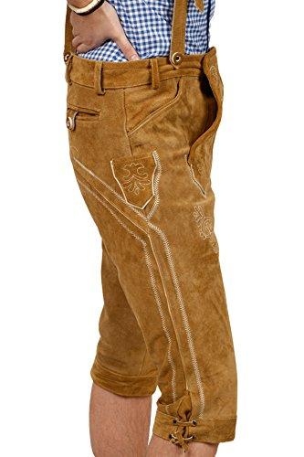 Kniebund Trachten Lederhose, super Passform, versch. Farben, 100% Echtleder, Hellbraun 46 - 5