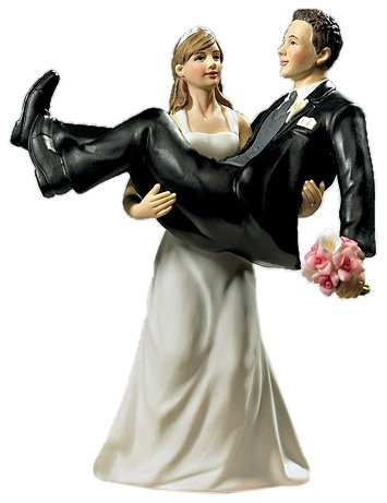 CAKE TOPPER SPOSO IN BRACCIO ALLA SPOSA UMORISTICO - Sposo In Porcellana Wedding Cake Topper