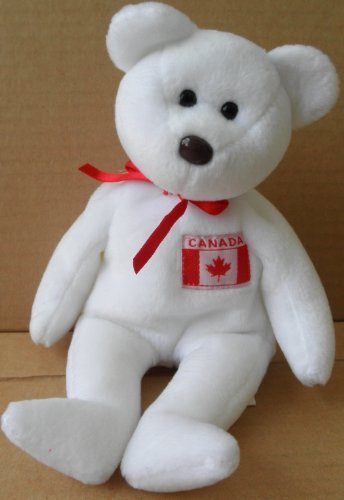 1 X TY Beanie Babies Maple the Canadian Bear Plush Toy Stuffed Animal by Unknown