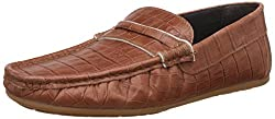 Carlton London Mens Noly Tan Leather Loafers and Moccasins - 6 UK/India (40 EU)