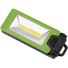 Lonshell Portátil Linterna,Giratoria 180° Multi Color COB LED Luz de Trabajo Magnético Gancho