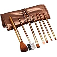 AKAAYUKO 7PCS Profesional Pincel de Maquillaje Makeup Brush Pinceles Cosmética Sets de brochas -Oro